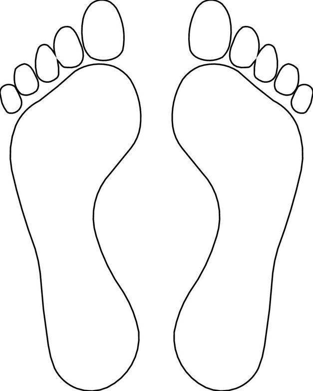 Feet clipart monochrome Clipart art Feet image clip
