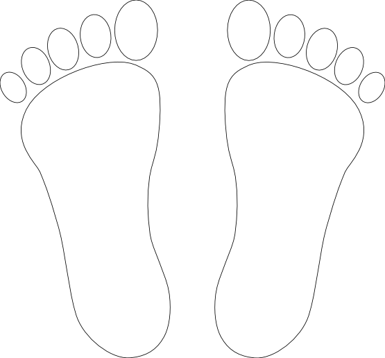 Feet clipart monochrome White Free Images Clipart Black