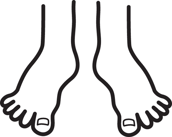 Feet clipart monochrome Clip Art Feet Art Outline