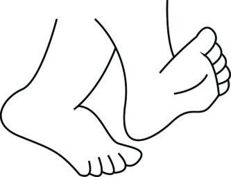 Feet clipart monochrome Cartoon Foot Clipart Clipart «