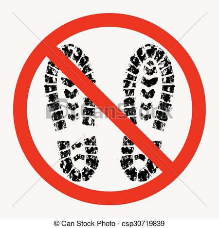 Feet clipart muddy shoe Vectors dirty prohibited are are