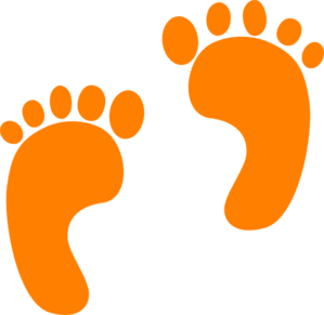 Feet clipart orange baby Clipart  Orange Baby Footprints