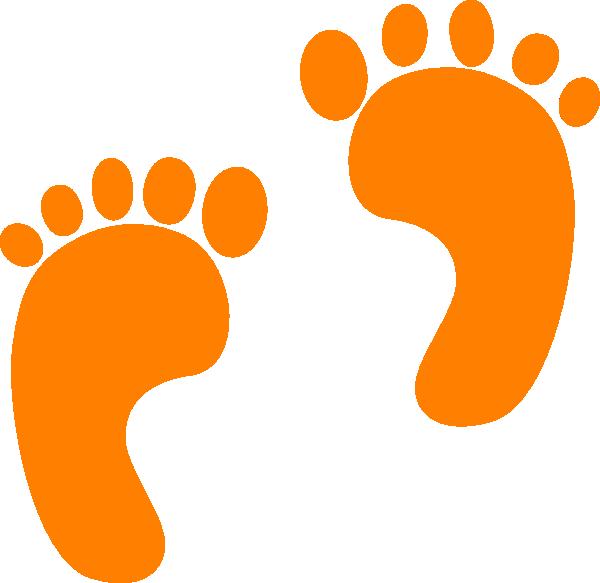 Feet clipart orange baby Clip clip  Orange at