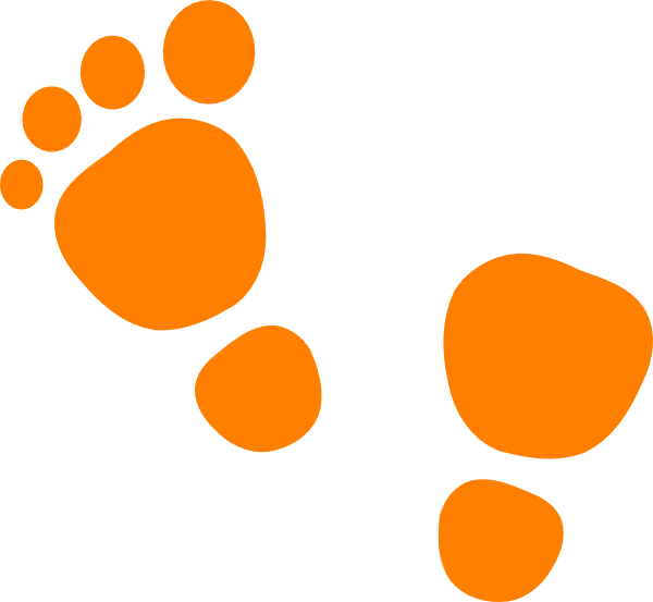 Feet clipart orange baby Clip vector image online as: