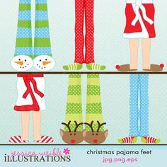 Feet clipart pajama Digital Design MYGRAFICO Design and