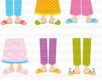 Feet clipart pajama Digital Pajama clipart EPS files
