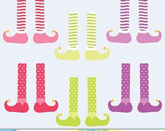 Feet clipart pajama Elf Digital Instant Art Graphics