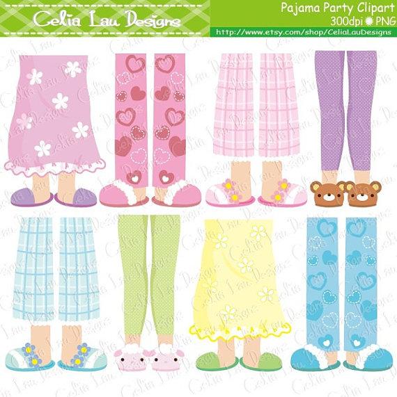 Feet clipart pajama Girls (CG154) Pajama clipart Feet