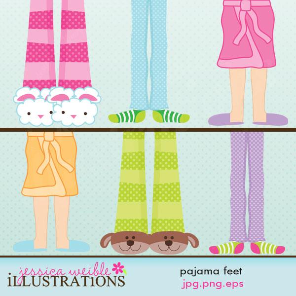 Feet clipart pajama Feet & ARTS AND STORE