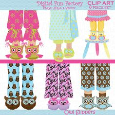 Feet clipart pajama Owls Cliparts  by Illustrations