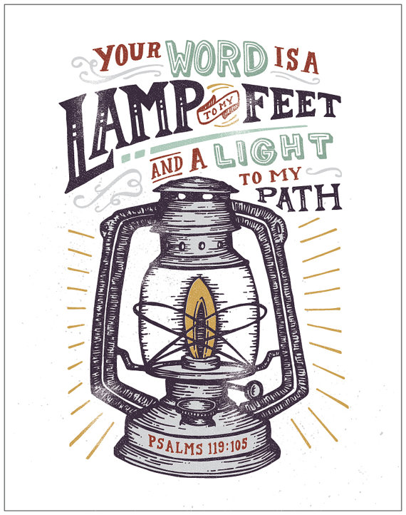 Feet clipart path Religious and lamp Vintage unto