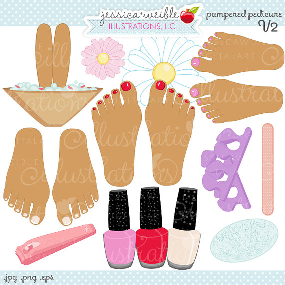 Nails clipart pedicure Cute V2 Pampered Cute Graphics