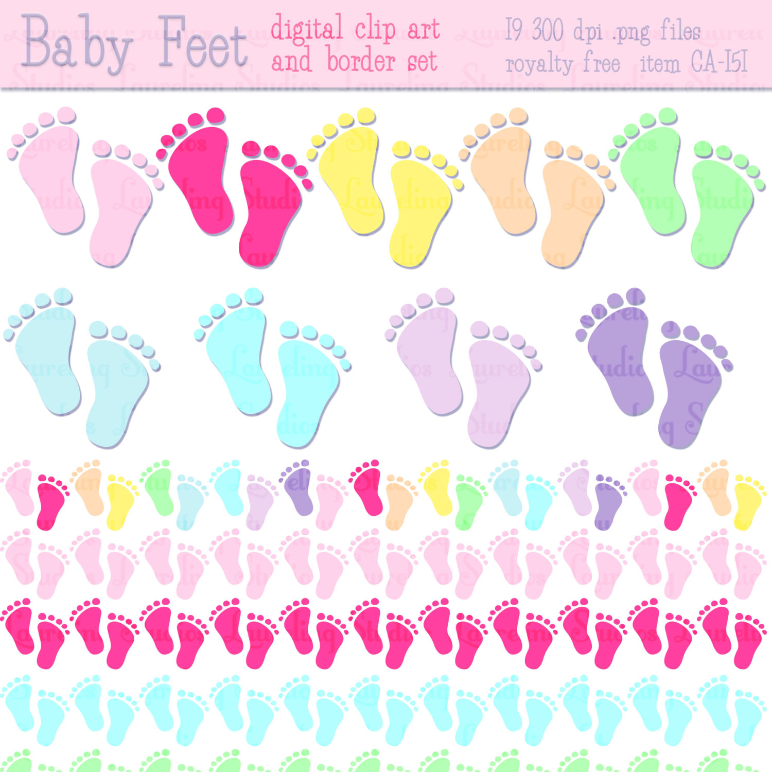 Footprint clipart baby shower Border Baby Clipart clipart collection