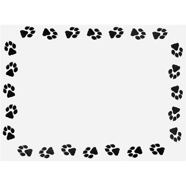 Paw clipart border Download Clipart Border Paw Paw