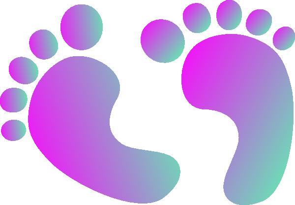 Feet clipart purple Clker vector royalty domain art