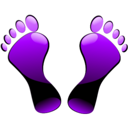 Feet clipart purple Images Icon icon Violet in