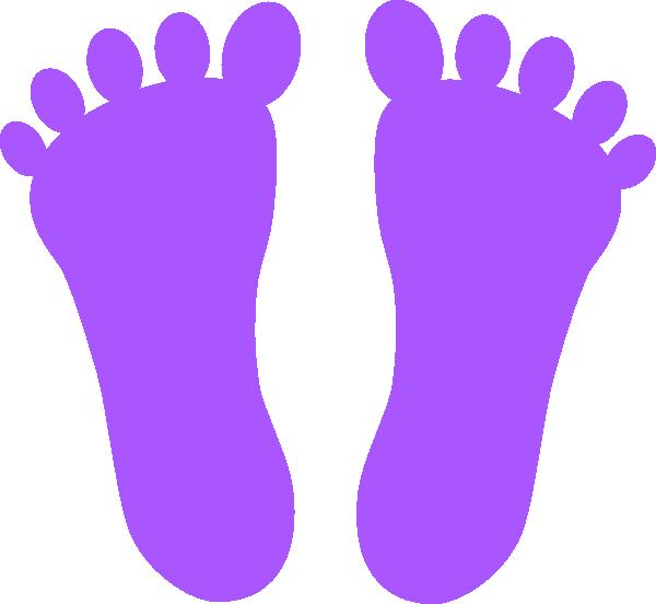 Feet clipart purple At com online Art Download