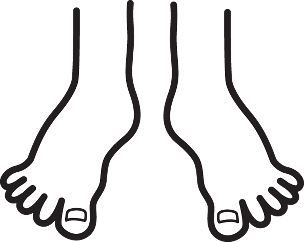 Feet clipart right foot Download Feet