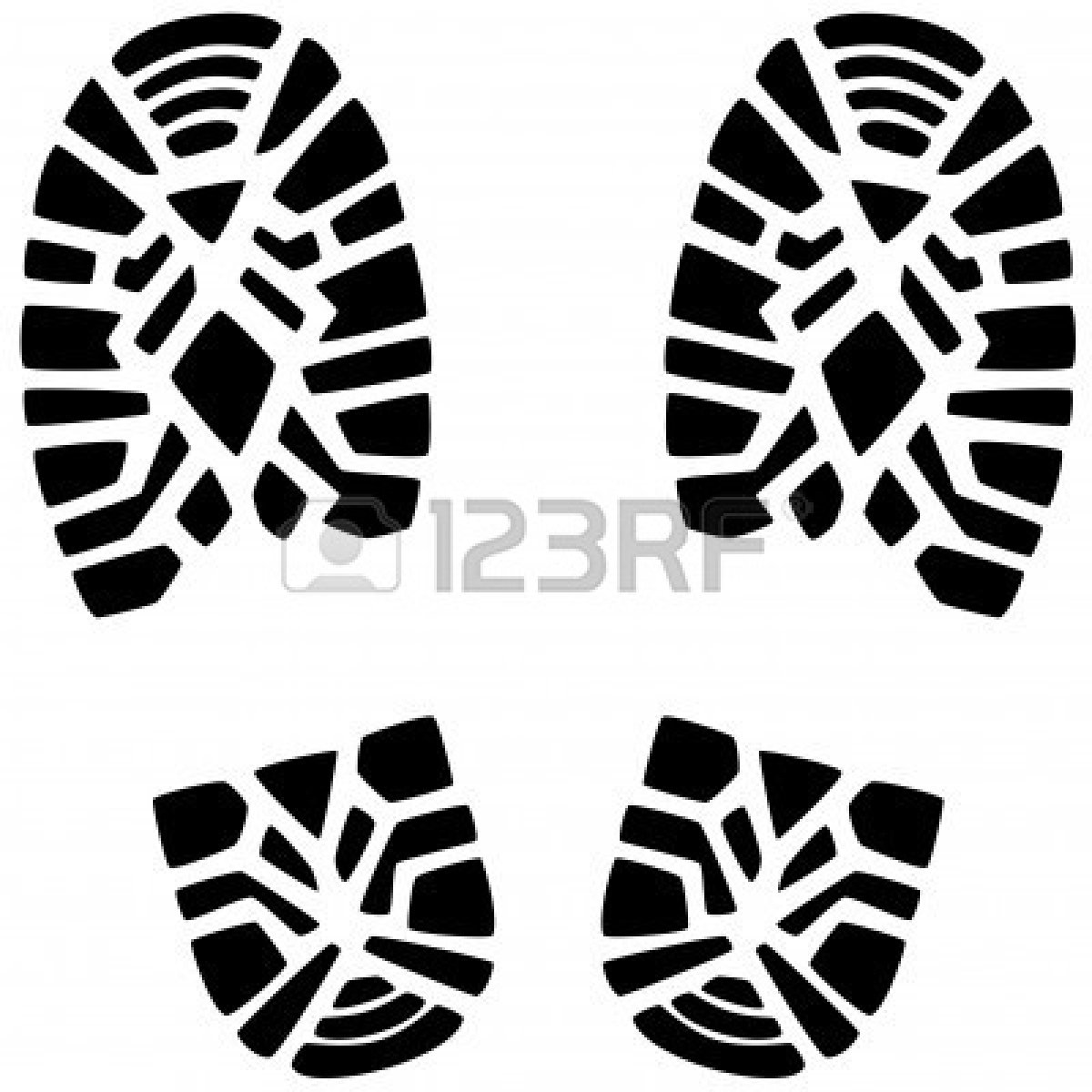Footprint clipart boot Footprints Clipart Clip of a