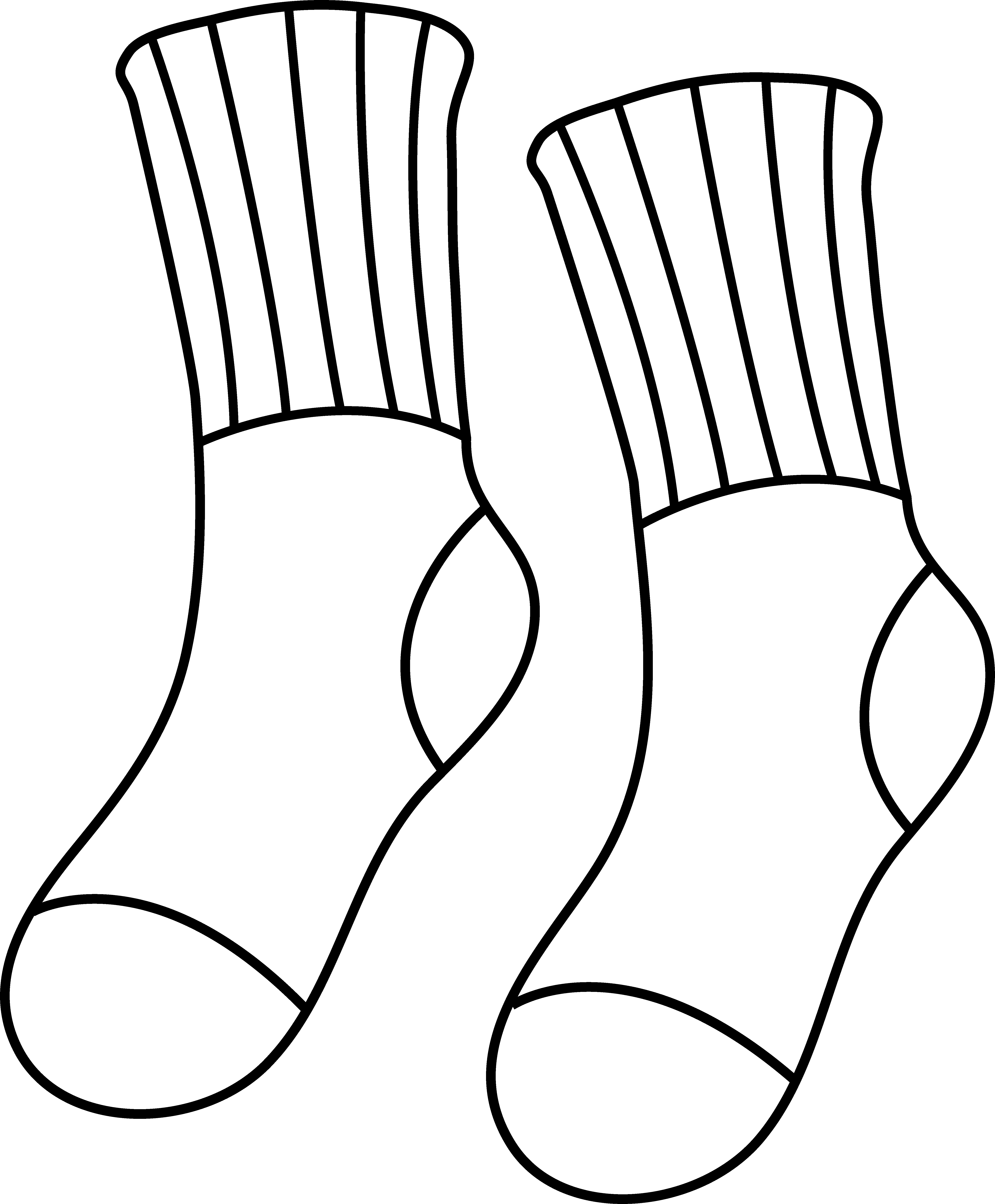 Feet clipart sock Art of Socks Outline Line