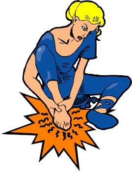 Legs clipart hurt – An Walking error Feet