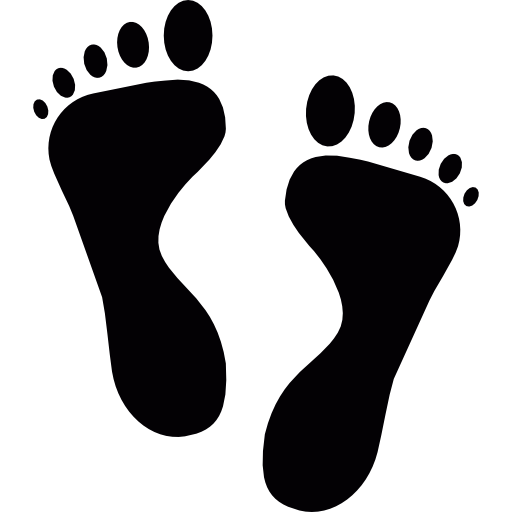 Feet clipart step Footprint icon Feet shapes Footmark
