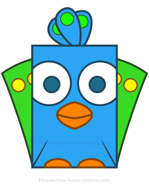 Beak clipart peacock And the outlines are use
