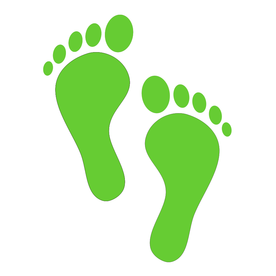 Feet clipart step Feet Art art Green clip