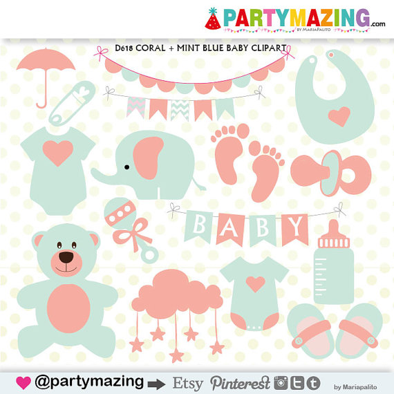 Feet clipart stuff Coral Set and Partymazing Baby