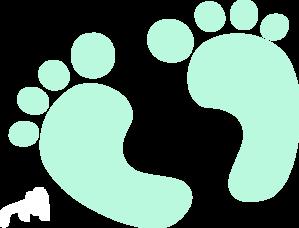 Feet clipart transparent Blue Feet Clip vector