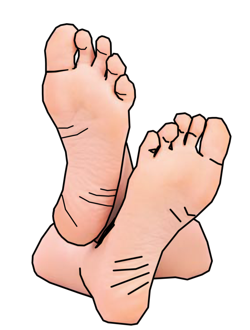 Feet clipart two foot Foot Art Download on Free