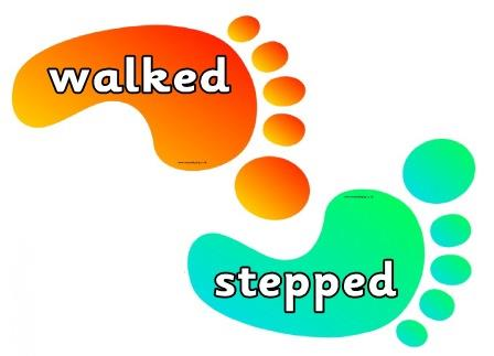 Feet clipart walked On coloured Literacy for Writing