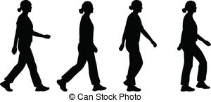 Feet clipart walked Vector Walking girl 450 and