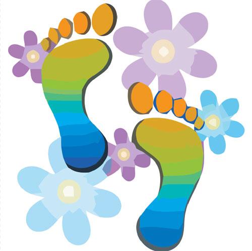 Feet clipart walking foot Clipart foot leg feet feet