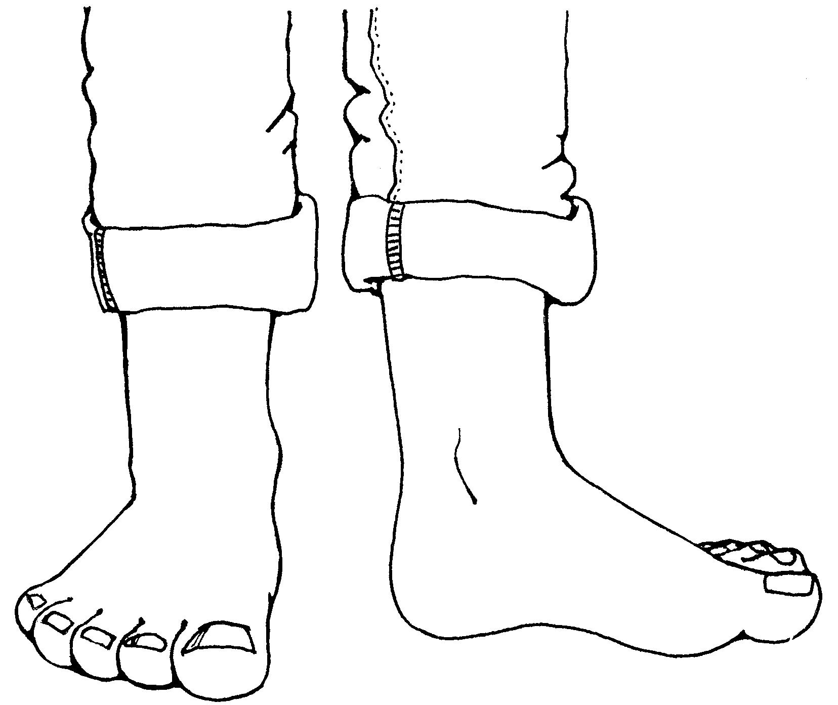 Legs clipart black and white Feet Clipartner Images Feet &