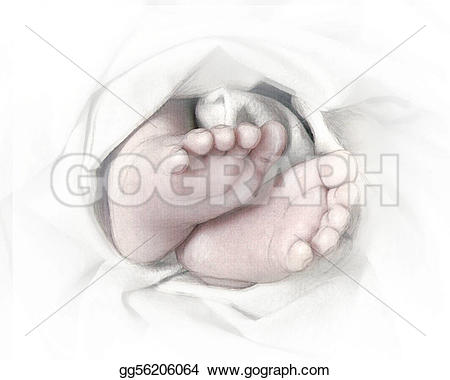 Feet clipart wrapped Pencil Art a or Clip