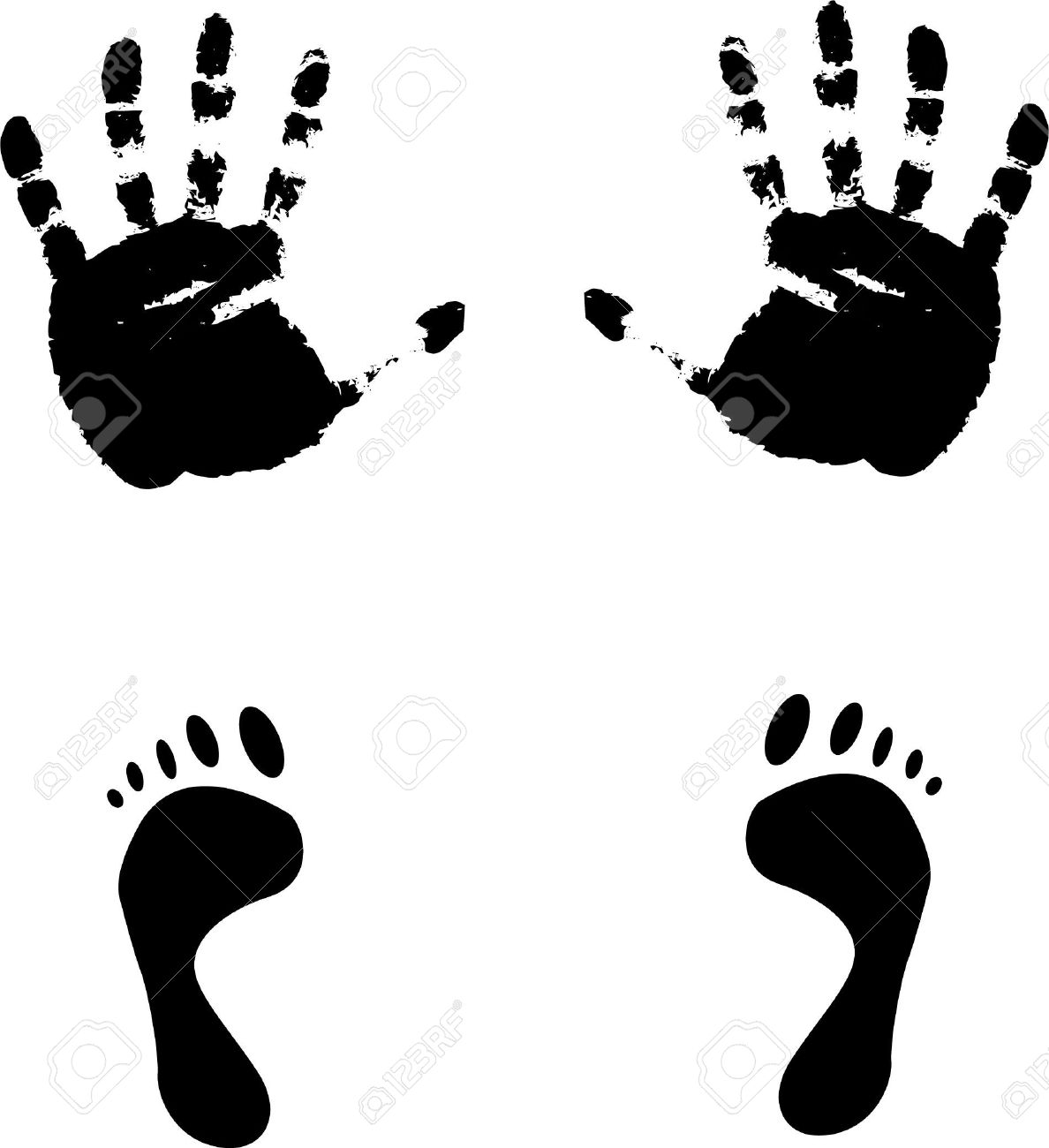 Feet clipart yourself clipart Feet baby prints and hands