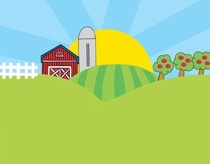 Feilds clipart kapatagan Of Clipart Behind Farm Image