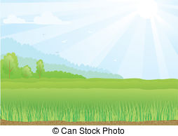 Feilds clipart kapatagan Rays field green football Illustrations
