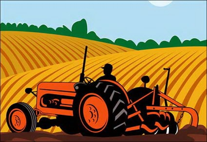 Ranch clipart agriculture field Clip machinery farming vector Farming