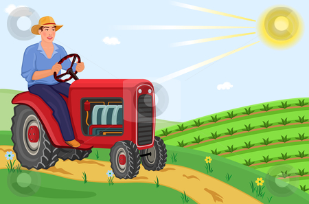 Ranch clipart agriculture field The driving Farmer stock the