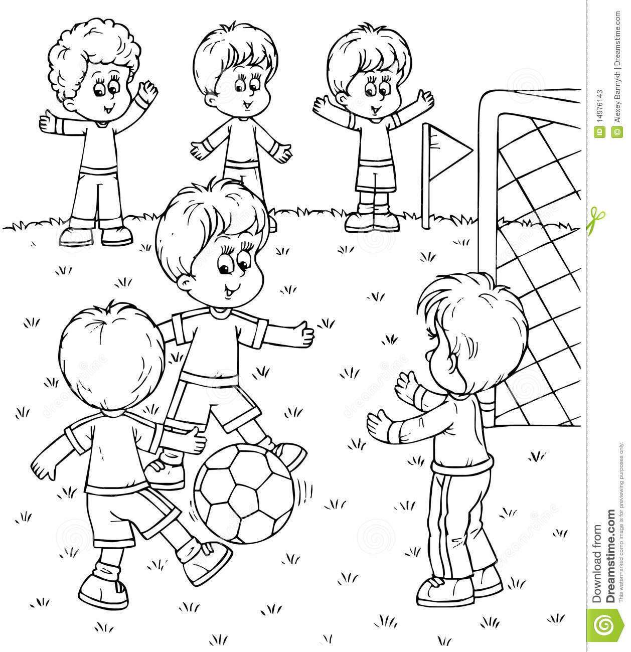Feilds clipart countryside Children black players games white