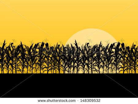 Cornfield clipart silhouette Art Search  clip Google