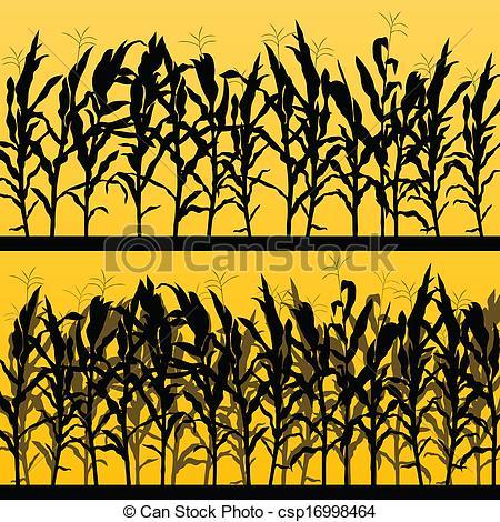 Cornfield clipart silhouette Corn clip  letters clip
