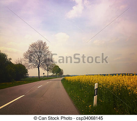 Feilds clipart country road Fields Bavaria csp34068145 among road