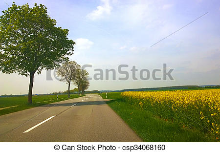 Feilds clipart country road Fields Bavaria csp34068160 among road