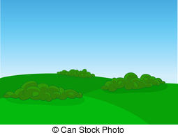Feilds clipart green field Vectors landscape of field