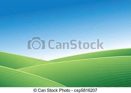 Feilds clipart green field Sky blue csp5816207 field and