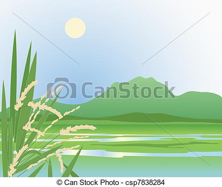 Feilds clipart illustration Field Vector paddy of EPS