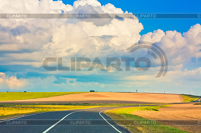 Feilds clipart country road Grass destination of green with